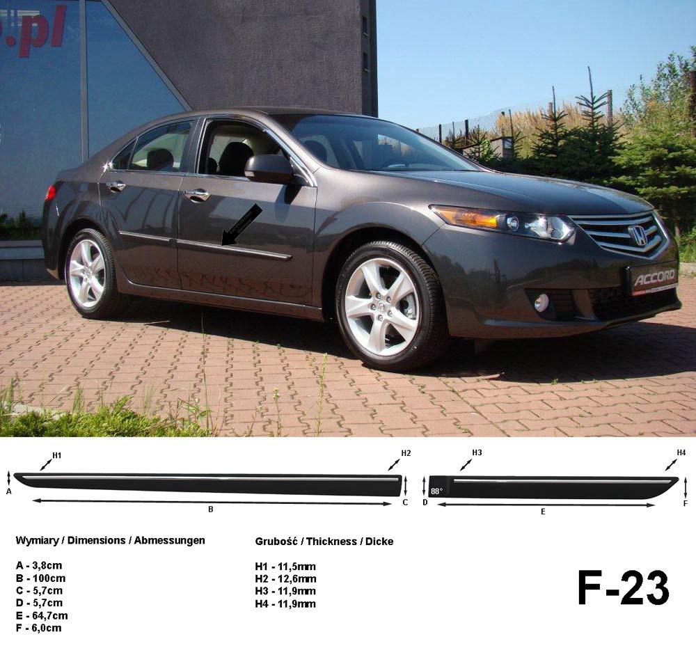 Generation Baujahr 2008-2011 F23 Spangenberg Seitenschutzleisten schwarz f/ür Honda Accord VIII Limousine 8 3700023