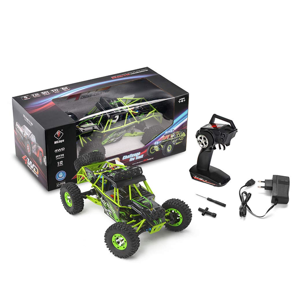 ASfairy RC Car 1:12 Scale 4WD High Speed 50km/h Off -Road/Rock Climbing Buggy Car 2.4Ghz Electric with LED Light/Waterproof/Shockproof Boys' Suprise Gift by ASfairy (Image #7)