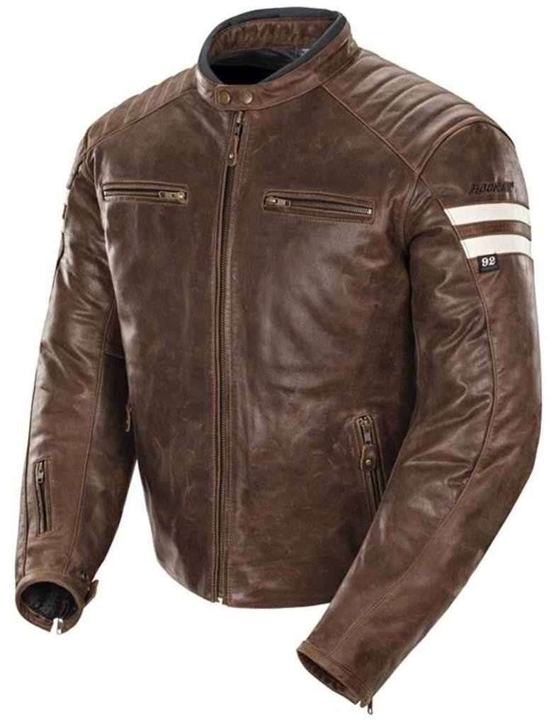 Joe Rocket Classic 92' Leather Jacket Brown Cream Scrambler XX-Large