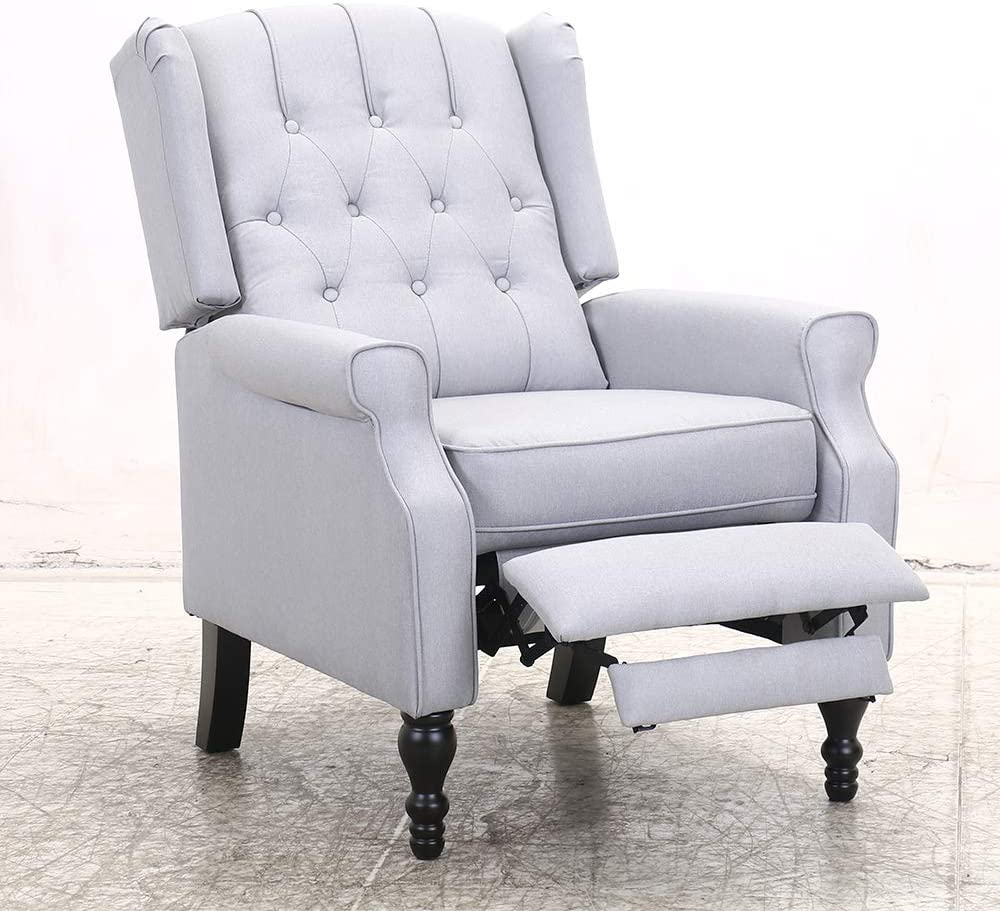 4. Most Stylish: Bonzy Home Wingback Recliner Chair