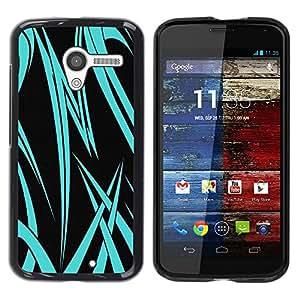 LECELL -- Funda protectora / Cubierta / Piel For Motorola Moto X 1 1st GEN I XT1058 XT1053 XT1052 XT1056 XT1060 XT1055 -- Neon Blue Tribal --