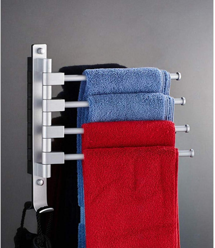 Porte-serviettes mobile perforant le porte-serviettes peut faire pivoter le porte-serviettes mural /à plusieurs barres le porte-serviettes rotatif standard /à deux barres noir
