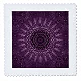 3dRose Andrea Haase Art Illustration - Purple Mandala Illustration - 12x12 inch quilt square (qs_268247_4)