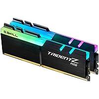 G.SKILL F4-3200C16D-16GTZR Trident Z RGB Series 16 GB (8 GB x 2) DDR4 3200 MHz PC4-25600 CL16 Dual Channel Memory Kit…