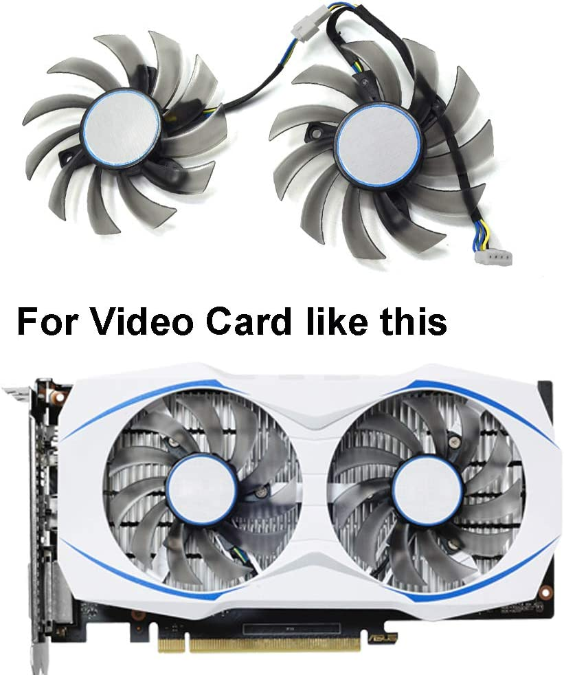 75mm FD7010H12S Ventilador de Refrigeraci/ón de Repuesto Graphics Card Fan para ASUS Dual GTX 1050 RX 460 Graphic Card