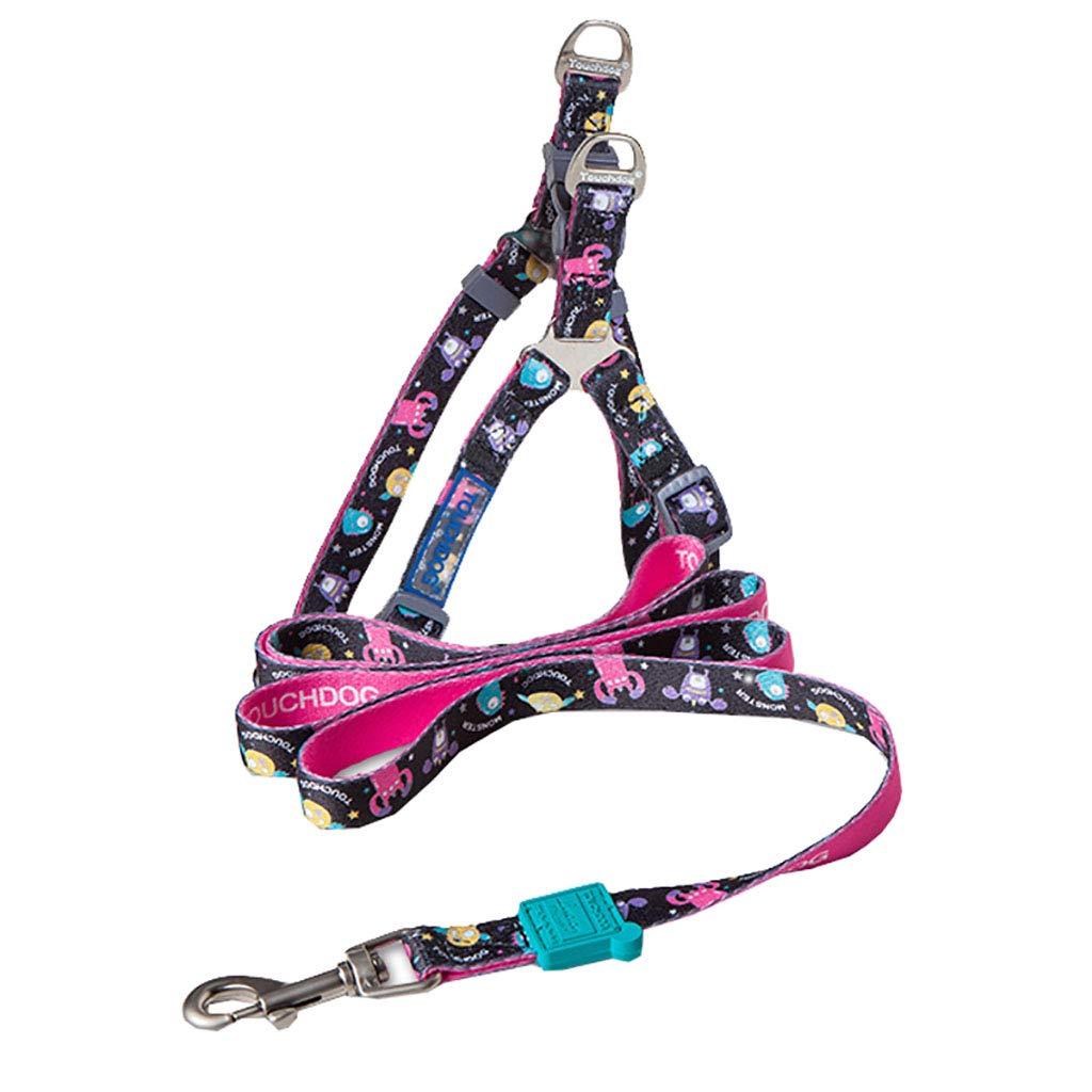 Medium Nylon Leashes for Dogs Reflective Multi-colord Stripe Dog Leash
