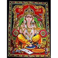 SEQUIN GANESH WALL HANGING by uberdelic by Pilgrims Fair Trade