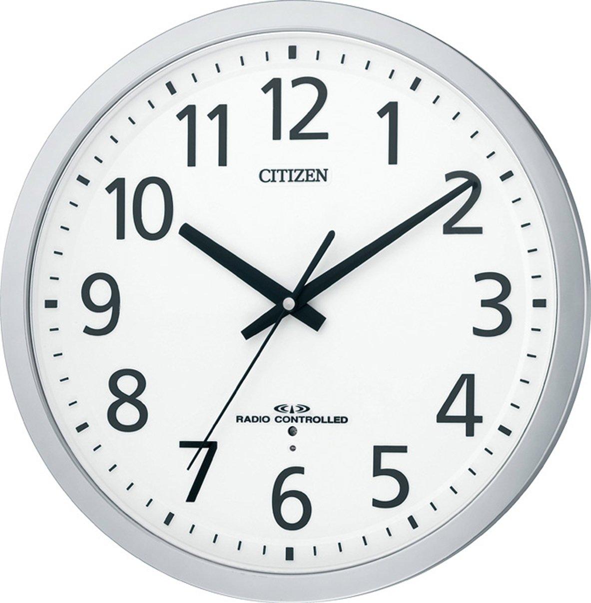 CITIZEN (シチズン) 掛時計 スペイシーM462 電波 時計 オフィスタイプ 見やすいフォント 8MY462-019 B0040EJS1E