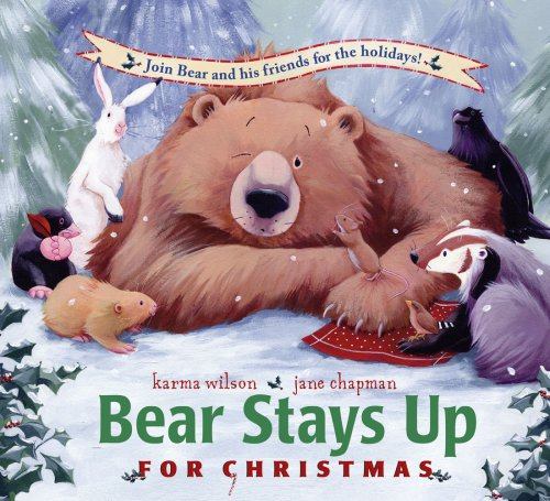 stays up for christmas the bear books