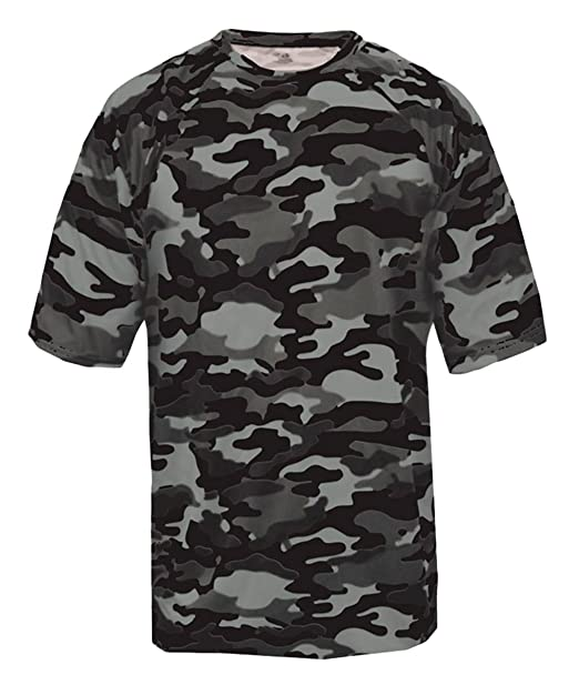 27b21526f Amazon.com  Badger 2181 - Youth Camo Short Sleeve T-Shirt  Clothing