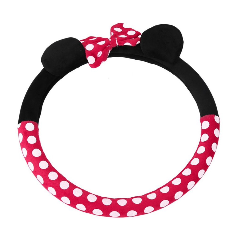 1 pcs 380mm car Girl Carto Steering Wheel Cover Covered General Cute Mickey Steering Wheel Cover Plush DRFLYSD