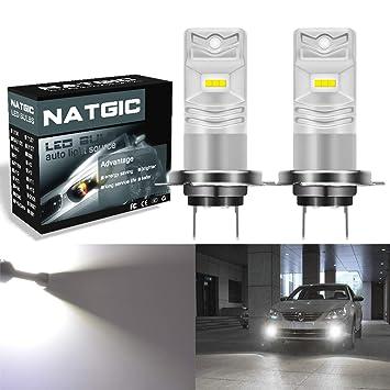 NGCAT H7 Bombilla de luz antiniebla led Xenon blanco 850LM CSP Chips usados para lš¢mpara de niebla antiniebla delantera, 12V-24V (paquete de 2): Amazon.es: ...