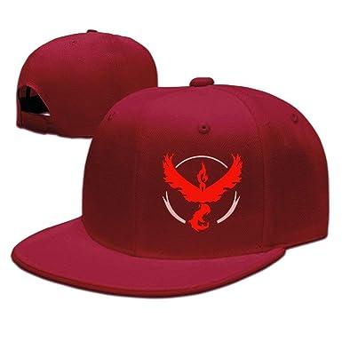 Cap Hat Pokemon Go Team Valor Moltres Flat Snapback Baseball Cap ...