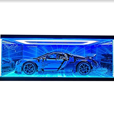 RAVPump Acrylic Display Case for Technic Bugatti Chiron Model - Clear Display Box Showcase Compatible with Lego 42083 ( Lego Set not Included ): Toys & Games