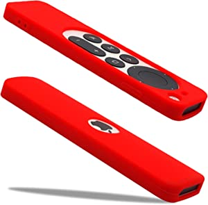 The New Apple TV 4k Remote Case 2021 Siri Remote Control Case is Suitable for Apple TV. The Shockproof Silicone Remote Control Cover is Compatible with Apple TV Remote Cover 4k 2021 (red)