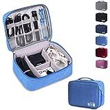 Rubik Electronics Organizer Waterproof Carrying Case - Universal Travel Digital Accessories Storage Bag for Portable…