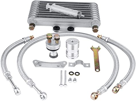 Langlebig Hitzebest/ändig Shiwaki /Ölk/ühler Kit aus CNC Aluminium f/ür 125//140cc Motorrad