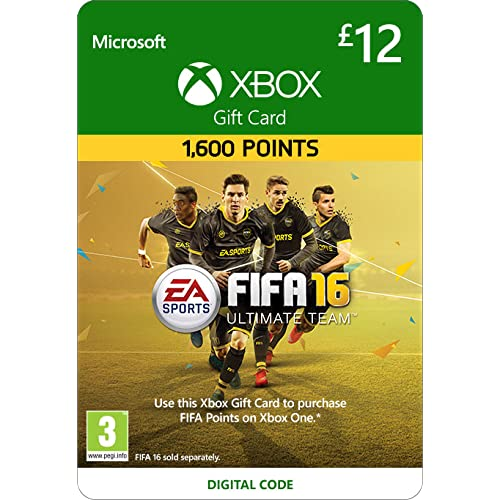 Xbox Live £12 Gift Card: FIFA 16 Ultimate Team [Xbox Live Online Code] [PC Code - No DRM]