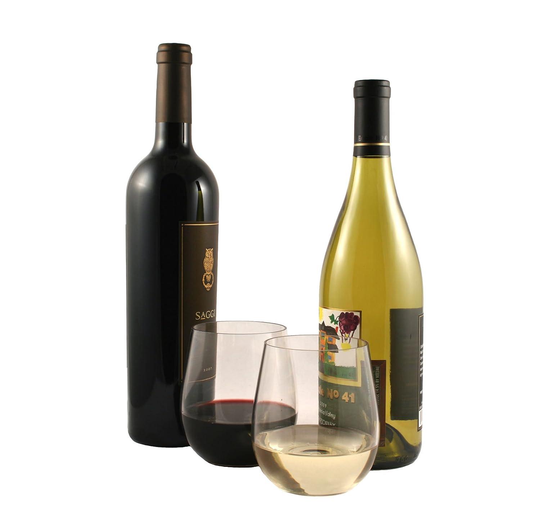 Best Dishwasher For Wine Glasses Amazoncom Winetanium Unbreakable Stemless 18 Oz Wine Glasses
