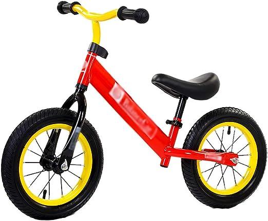 WHTBOX Bicicleta de Equilibrio para Aprender,Bicicleta de Equilibrio Bebe,No Pedal,Walking,Balance Entrenamiento, Robusto,Bicicleta para NiñOs y NiñOs de 2 a 6 AñOs,Red: Amazon.es: Jardín