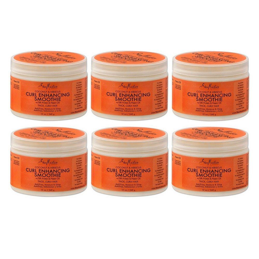 2 Jars of Coconut & Hibiscus Curl Enhancing Smoothie (12 oz.) ea (6 pack)