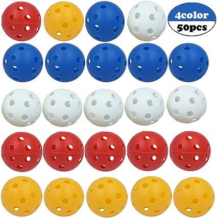 Velidy - Juego de 50 Pelotas de plástico para Practicar béisbol ...