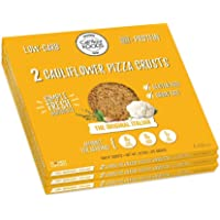 Cali'flour Foods Gluten Free, Low Carb Cauliflower Original Italian Pizza Crusts - 3 Boxes - (6 Total Crusts, 2 Per Box)