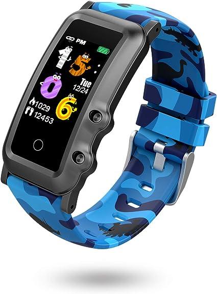 BIGCHINAMALL Reloj Inteligente Niño,Niña Pulsera Actividad Inteligente Reloj Digital de Deportivo Monitores Smartwatch Niños Pulsometro