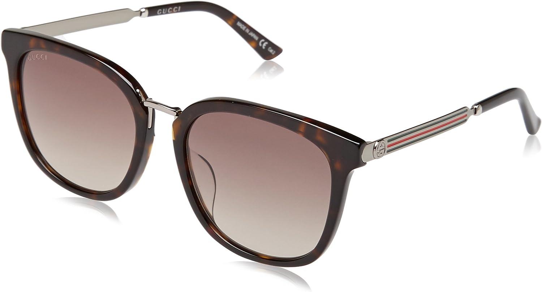 Gucci GG0079SK 003 Gafas de sol, Marrón (Avana/Brown), 56 para Hombre