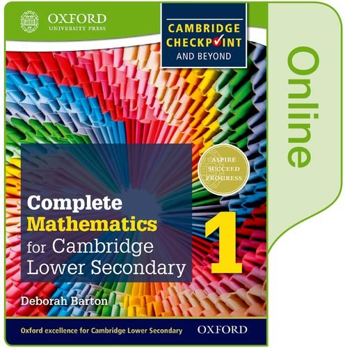 Download Complete Mathematics for Cambridge Lower Secondary Book 1: Online Student Book (CIE Checkpoint) ebook
