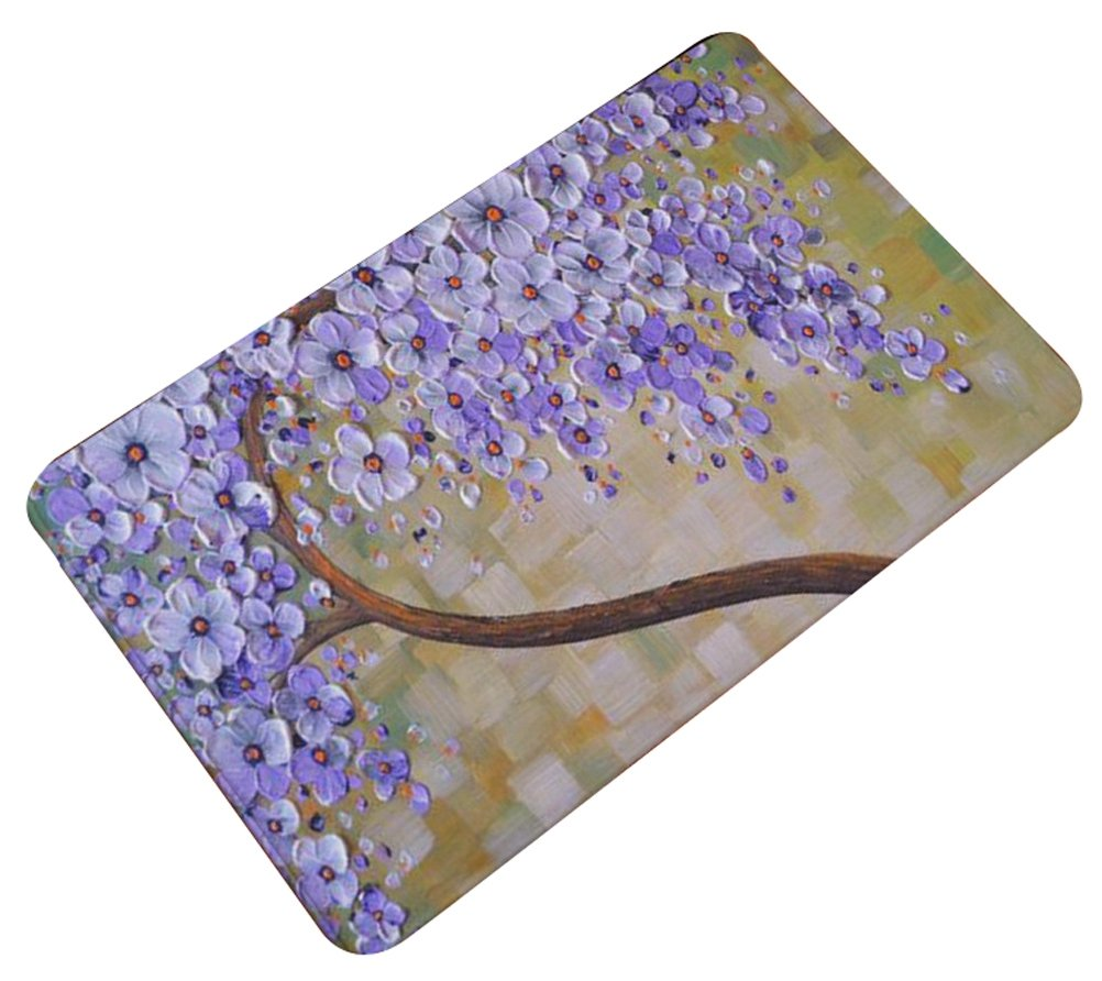 Oil Painting Floral Door Mat Flannel Antislip LivebyCare Doormat Entry Decor Front Entrance Indoor Outdoor Mats for Women Men Office Chair COMIN18JU091049