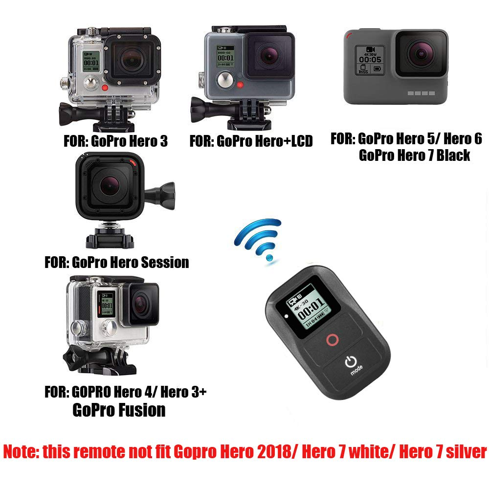 Suptig Waterproof Wireless Remote Control for Gopro Hero Hero 7 Black Hero 6 Black Hero 5 Hero 5session Hero 4 Hero4 Session Hero 3 Hero 3 Action Camera WiFi Remote