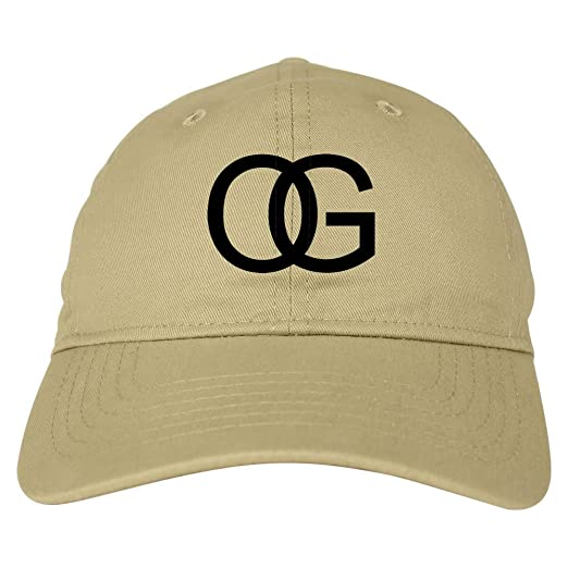 0ff6597aa92 Kings Of NY OG Original Gangsta 6 Panel Dad Cap Hat Beige at Amazon Men s  Clothing store