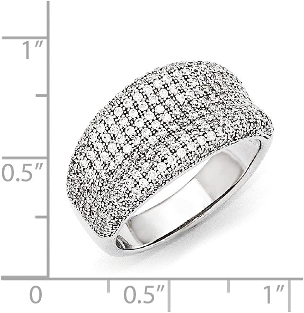 Sterling Silver and CZ Brilliant Embers Ring Size 6
