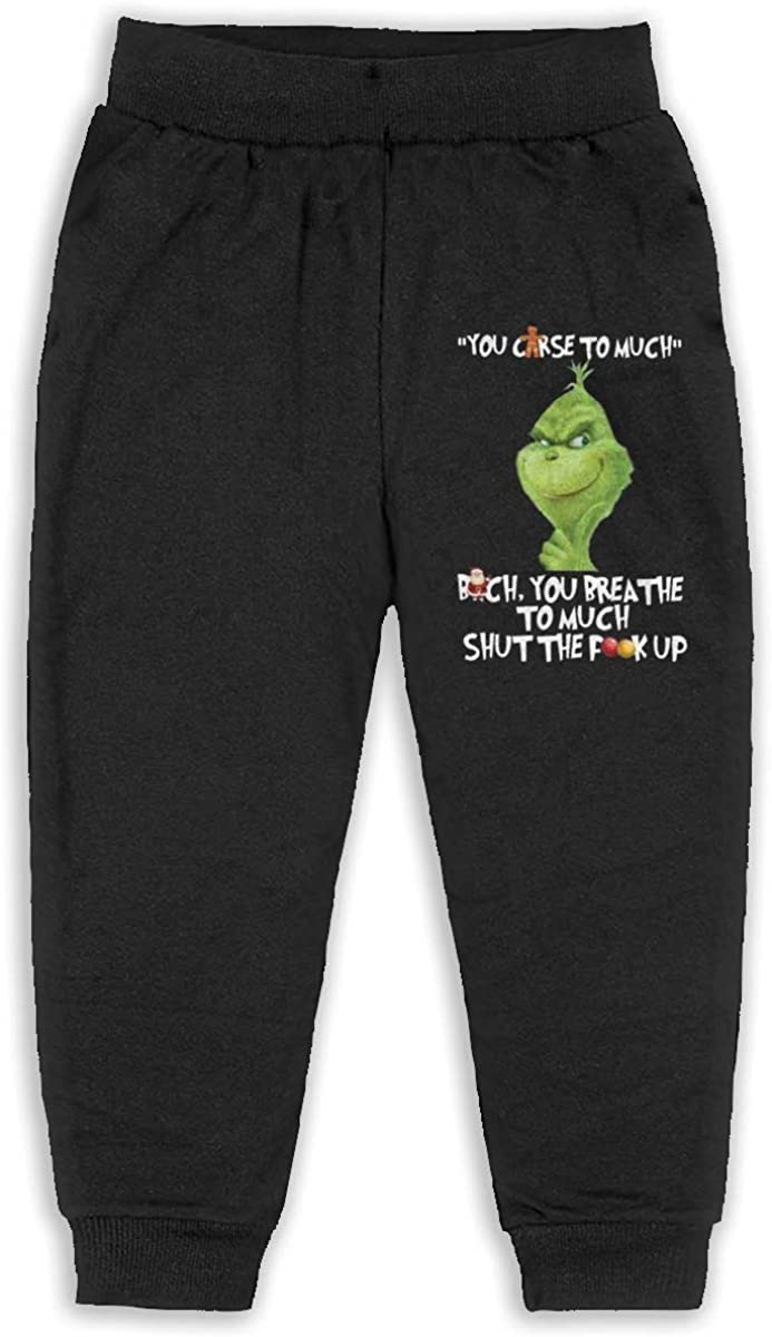 Sunshine Store Grinch You Curse Too Much Kids /& Toddler Pants Soft Cozy Kids Sweatpants