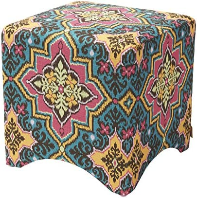 Jennifer Taylor Home Bentley Collection Bohemian Upholstered Accent Square Vanity Stool