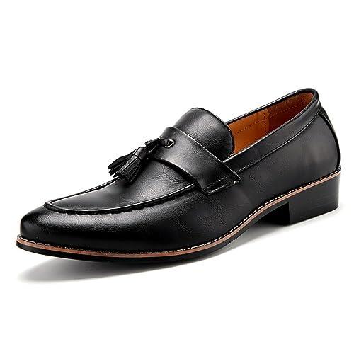 e874c442 Hombres Zapatos de Vestir Borla Italiano Calzado Masculino Formal Ballet  Pisos Moda Oxford Zapatos: Amazon.es: Zapatos y complementos