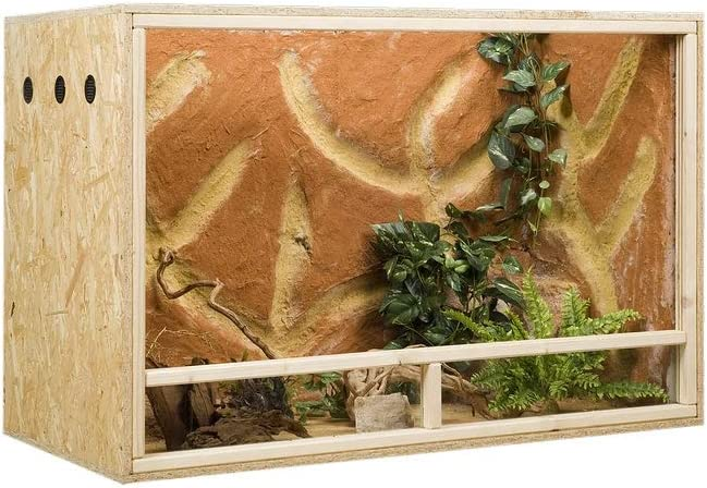 Concepto de madera OSB, 120 x 60 x 80 cm, ventilación lateral: Amazon.es: Productos para mascotas