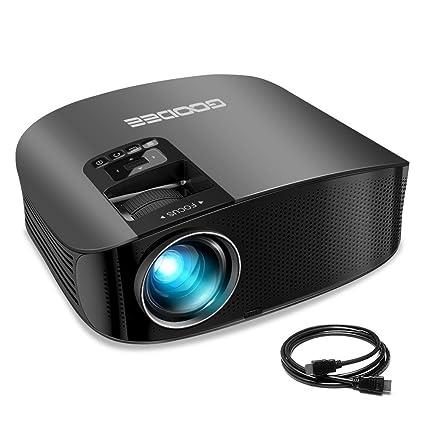 Amazon.com: Proyector, GooDee Proyector de vídeo LCD de 200 ...
