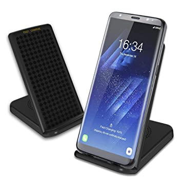 Cargador Inalámbrico Rápido Qi Wireless Charger Carga Rápida Samsung Galaxy S8 Plus, S8, Note8, S7 Edge, S7, S6 Edge+, Note5, Wireless Charger para ...