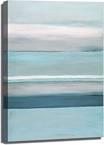 Large Abstract Canvas Wall Art Oil Painting on Canvas Blue Sea Sky
