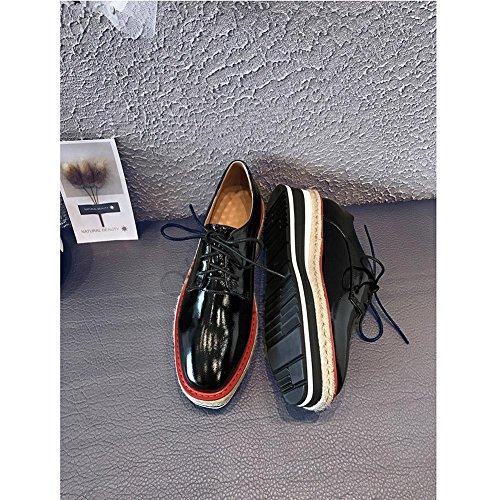 WSXY Plateformes KJJDE Loisirs Série Creepers black Chaussures Femme Baskets A1108 à HtWBqF4a