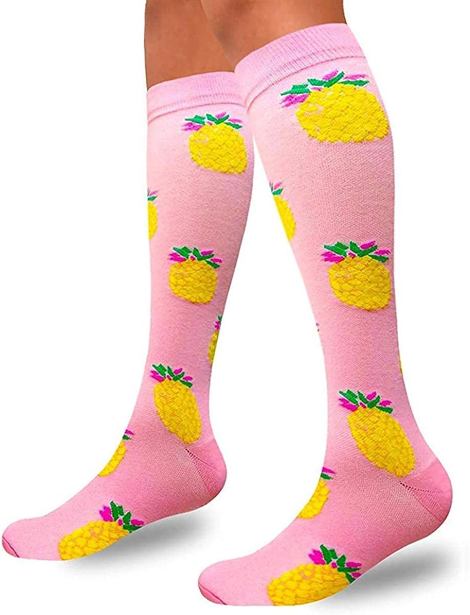 tama/ño S-M/… color F5-pi/ña-1 par 1 par ideales para correr Mujer embarazo y viajes m/édico hacer ejercicio Calcetines de compresi/ón para hombres y mujeres de 20 a 25 mmHg