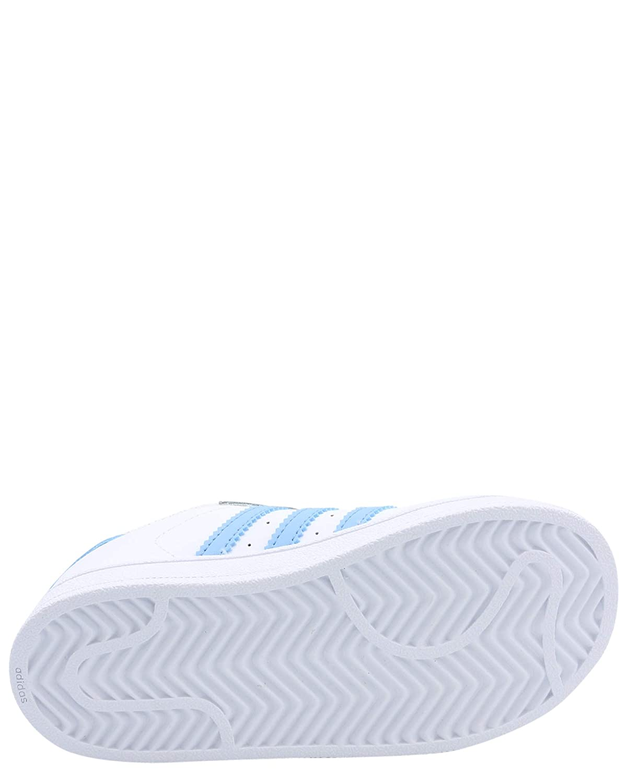 9 M US Toddler, White Light Blue Gold Metallic Adidas Original BW1279 White Light Blue Superstar Toddler Sneaker