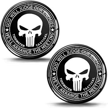 Biomar Labs 2 X Aufkleber 3d Gel Silikon Stickers Punisher Skull Schädel Totenkopf Autoaufkleber Ks 117 Auto