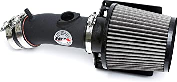 HPS Performance 827-566WB Shortram Air Intake Kit with Heat Shield Black