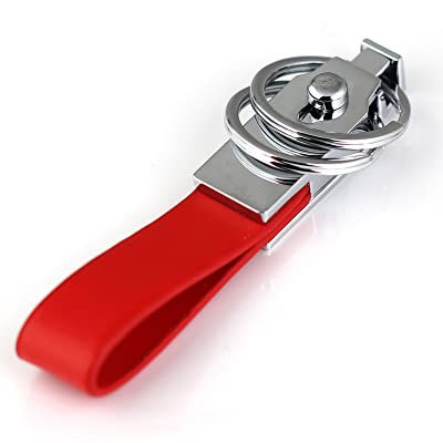 Pants Buckle Keychain Clip Hanging Double Loops Keyring Key Chain Ring 84003
