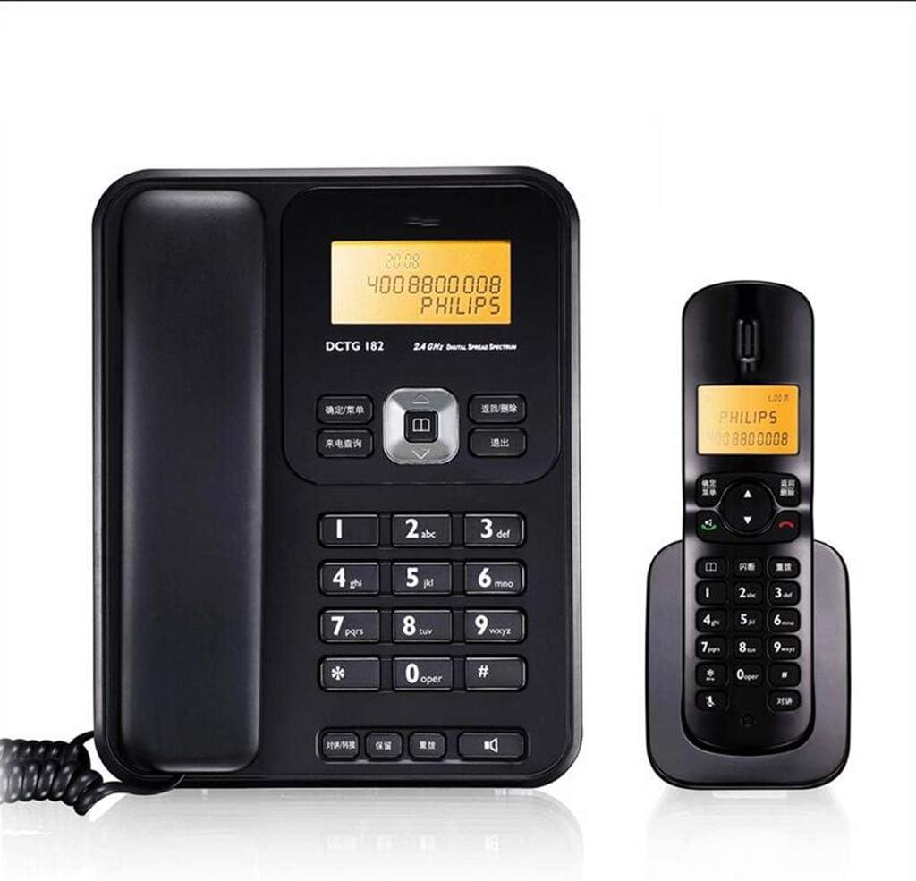 MSNDIAN Teléfono inalámbrico de Oficina en casa teléfono Fijo Unidad Base Artículos para el hogar teléfono (Color : Negro): Amazon.es: Hogar