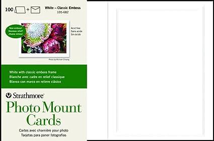 Amazoncom Strathmore 105 682 Photo Mount Cards White Classic