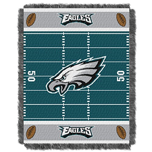 Eagles OFFICIAL National Football League, Field Baby 36 x 46 Triple Woven Jacquard Throw